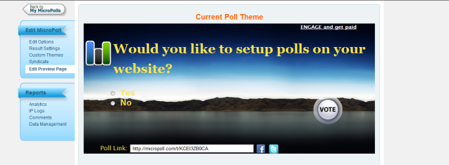 poll preview change